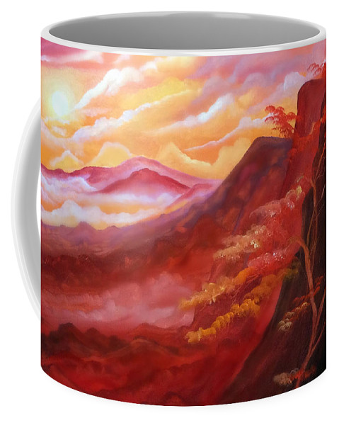 Coffee Mug featuring the painting Dreamland by Veronica Castaneda