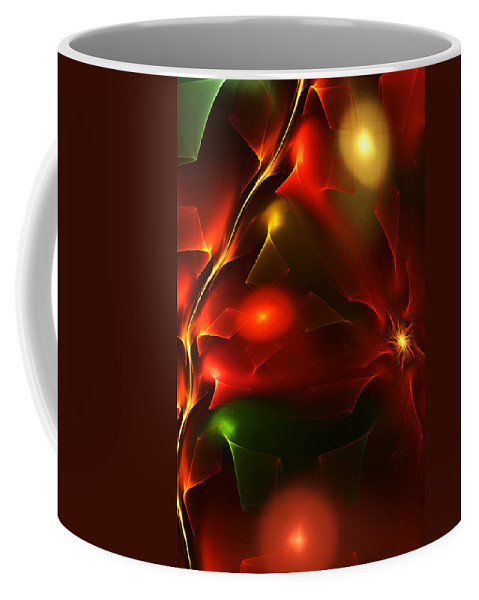 Digital Painting Coffee Mug featuring the digital art Dreams Of Christmas Past by David Lane