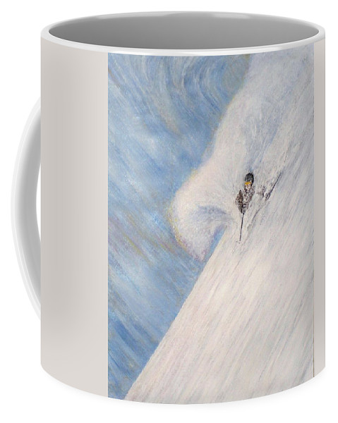 Landscape Coffee Mug featuring the painting Dreamsareal by Michael Cuozzo