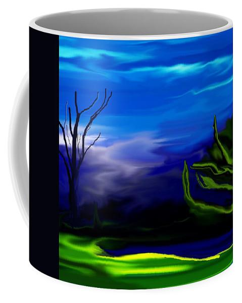 Dreamscape Coffee Mug featuring the digital art Dreamscape 062310 by David Lane