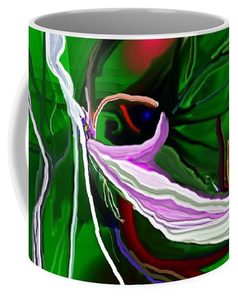 Dreamscape Coffee Mug featuring the digital art Dreamscape 062410 by David Lane