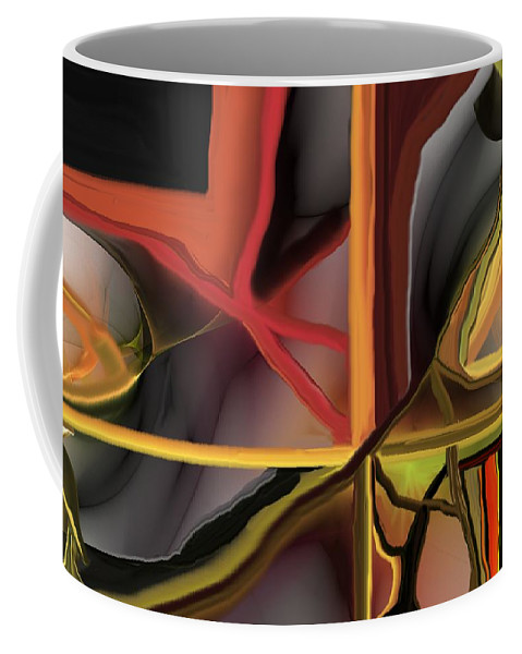 Abstract Coffee Mug featuring the digital art Dreamscape 062510 by David Lane