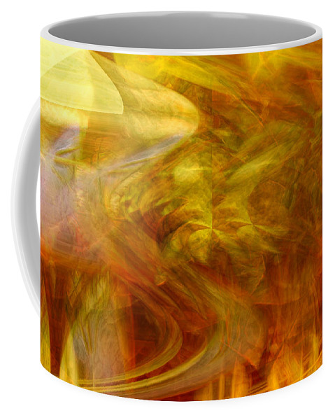 Abstract Art Coffee Mug featuring the digital art Dreamstate by Linda Sannuti