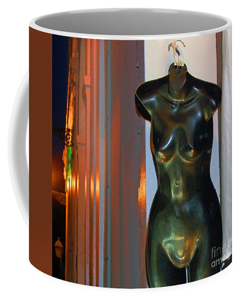Mannequin Coffee Mug featuring the photograph Dress Is Less by Debbi Granruth