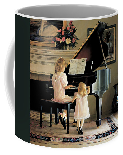 Piano Coffee Mug featuring the painting Dress Rehearsal by Greg Olsen