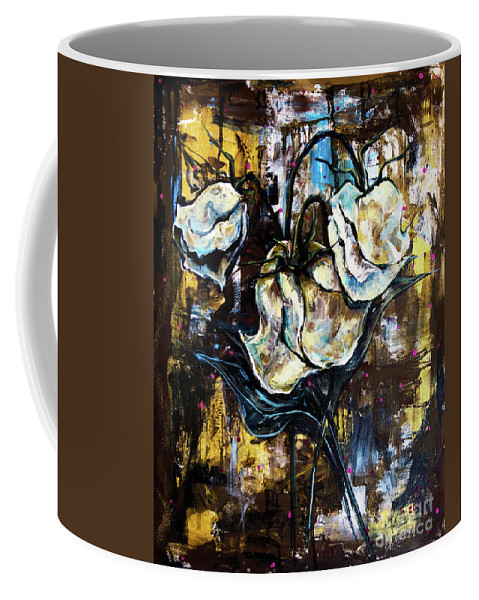 Rose Coffee Mug featuring the painting Dried Roses by Yana Sadykova