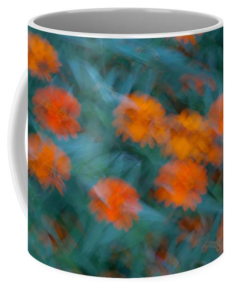 Drifting Coffee Mug featuring the photograph Drifting Daisies by Douglas Barnett