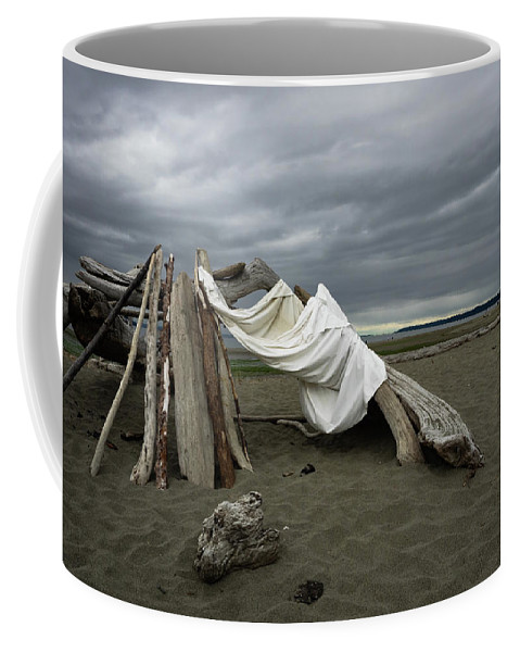 Driftwood Coffee Mug featuring the photograph Drifts And Clouds by Lynn Wohlers