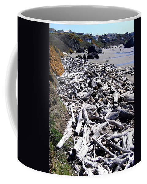Driftwood Coffee Mug featuring the photograph Driftwood By The Ton by Will Borden
