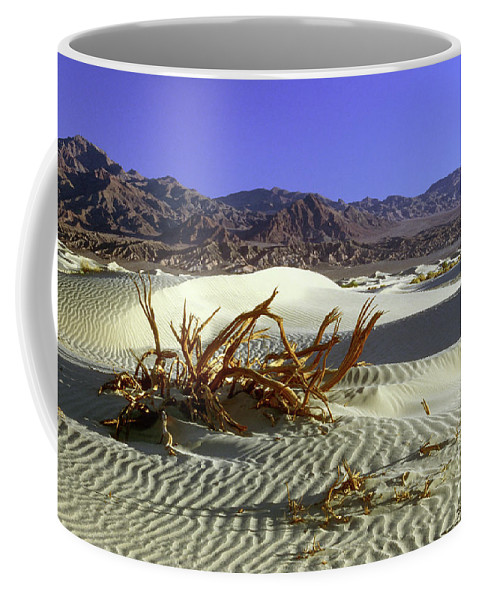Sand Coffee Mug featuring the photograph Driftwood Dune by Jim And Emily Bush