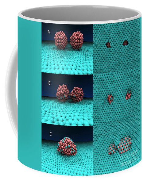 Science Coffee Mug featuring the photograph Drilling Of Graphene Nanoparticles by Science Source