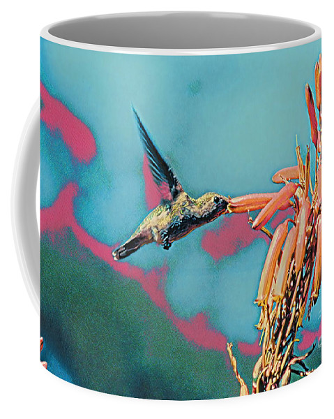Flower Coffee Mug featuring the digital art Drinking The Sweet Nectar From A Flower by Wernher Krutein