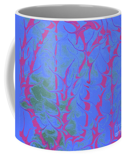 Keith Elliott Coffee Mug featuring the painting Drive Naked - V1rse88 by Keith Elliott