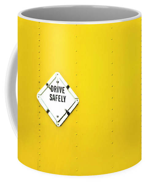 Bright Coffee Mug featuring the photograph Drive Safely by Evelina Kremsdorf