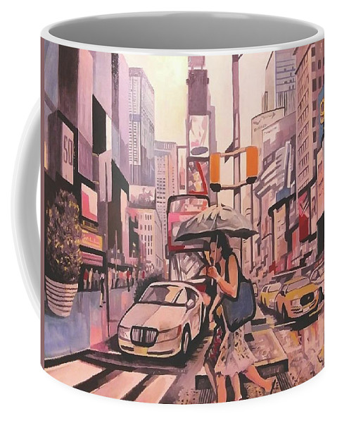 Coffee Mug featuring the painting Drive Time by Lisandro Rodriguez