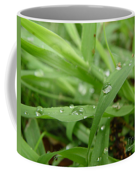 Water Droplet Coffee Mug featuring the photograph Droplets 02 by Peter Piatt