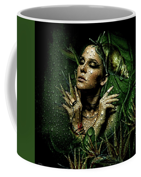 Dew Coffee Mug featuring the mixed media Drops Of Dew by G Berry