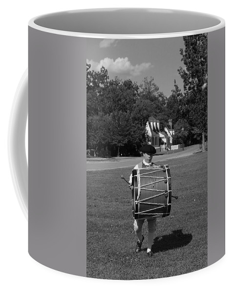 Colonial Coffee Mug featuring the photograph Drummer Boy by Eric Liller
