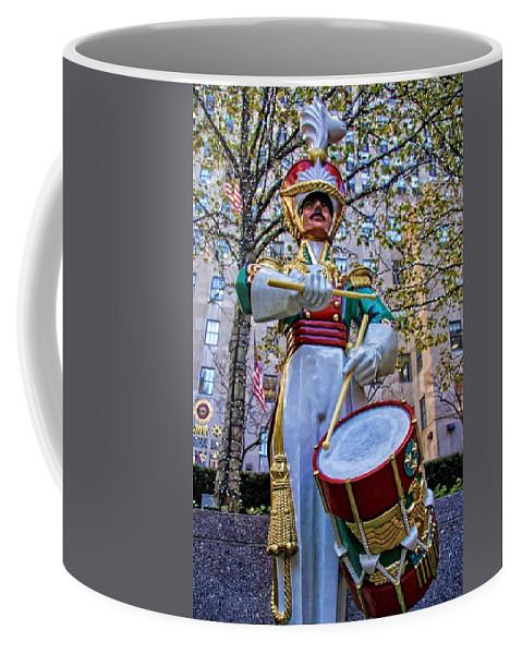 Alicegipsonphotographs Coffee Mug featuring the photograph Drummer Boy In Rockefeller Center by Alice Gipson