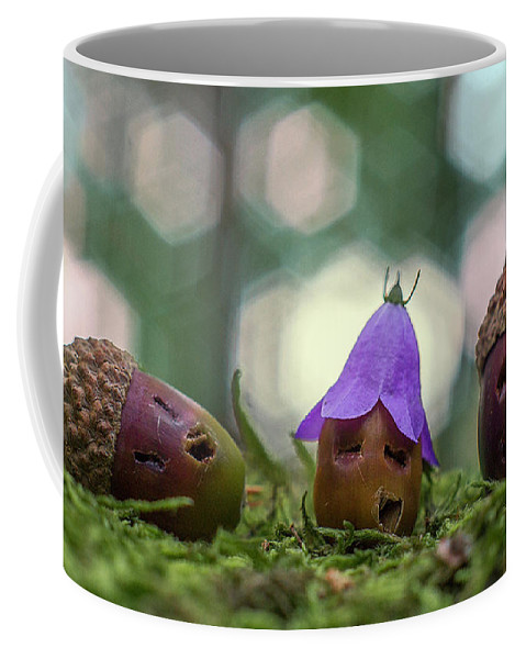 Acorn Acorns Forest Macro Photo Photography Inscenation Coffee Mug featuring the photograph Drunks by Michal Gulas