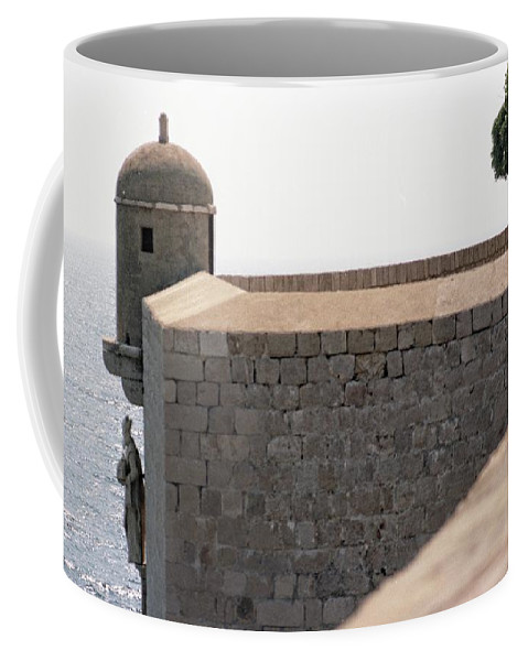 Dubrovnik Coffee Mug featuring the photograph Dubrovnik The Wall by Gavin List