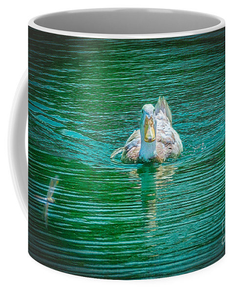 Duck Coffee Mug featuring the photograph Duck - C by Larry White