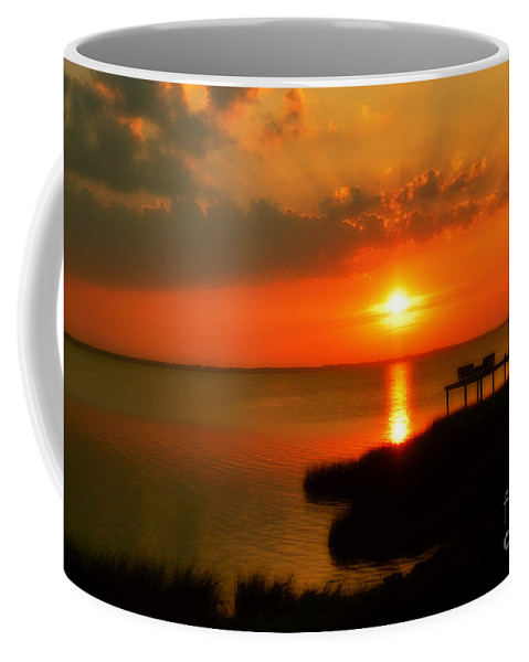 Obx Coffee Mug featuring the photograph Duck Sunset Outer Banks North Carolina by Randy Steele