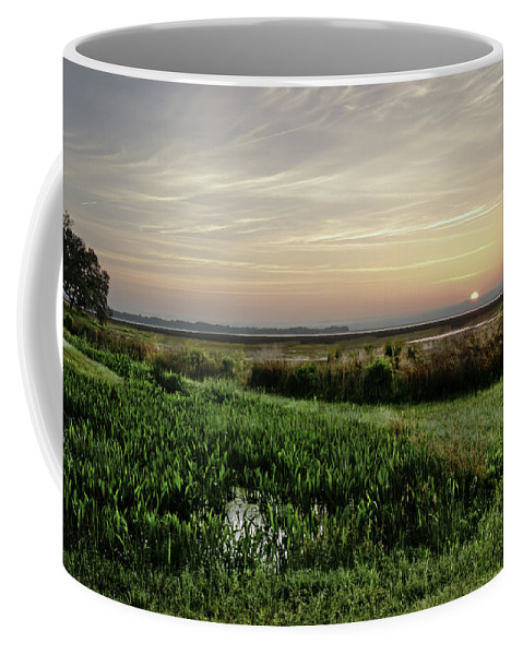 Sunrise Coffee Mug featuring the photograph Due East by Phill Doherty