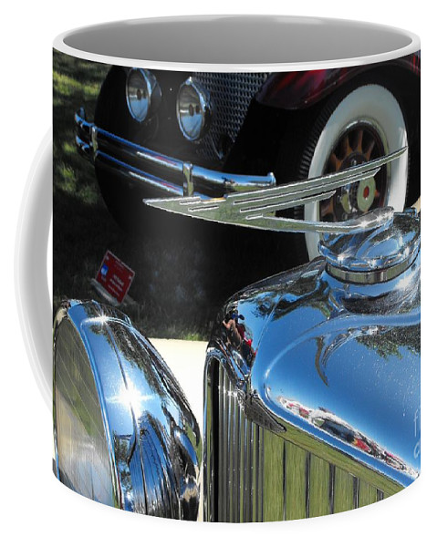 Duesenberg Coffee Mug featuring the photograph Duesenberg Hood Ornament by Neil Zimmerman