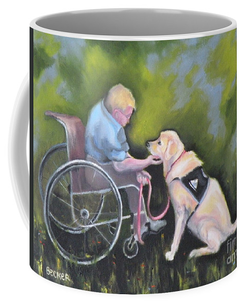 Dog Coffee Mug featuring the painting Duet by Susan A Becker