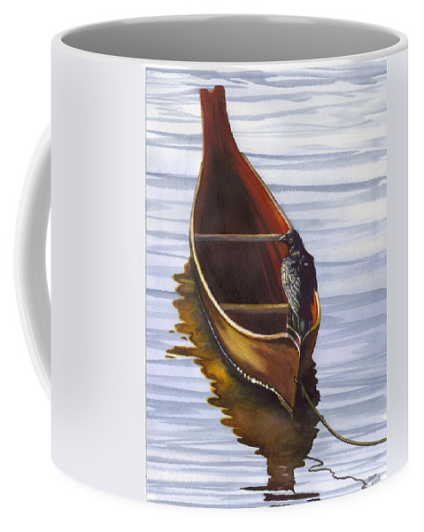 Dugout Coffee Mug featuring the painting Dugout by Catherine G McElroy