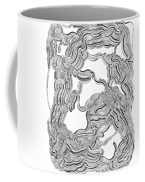 Mazes Coffee Mug featuring the drawing Dulcinea by Steven Natanson