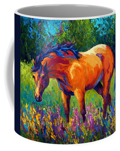 Horses Coffee Mug featuring the painting Dun Mare by Marion Rose
