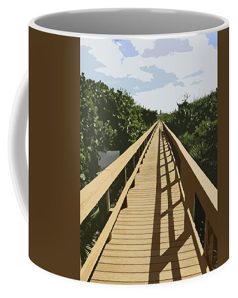 Walk Coffee Mug featuring the painting Dune Walk by Allan Hughes