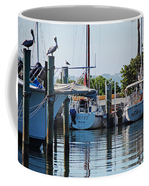 Boats Coffee Mug featuring the photograph Duneden Fl. by Robert Meanor