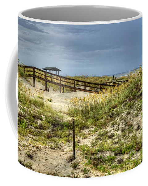 Tybee Island Coffee Mug featuring the photograph Dunes At Tybee Island by Tammy Wetzel
