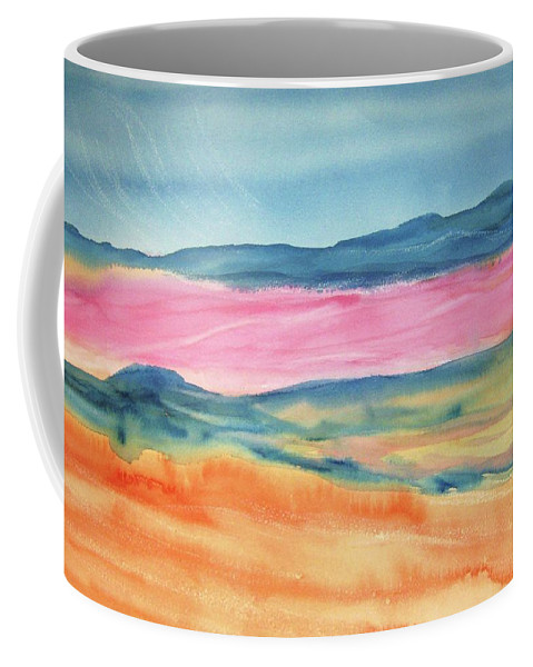 Dunes Coffee Mug featuring the painting Dunes by Ellen Levinson