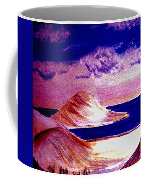 Sand Dunes Coffee Mug featuring the painting Dunes by Rusty Gladdish
