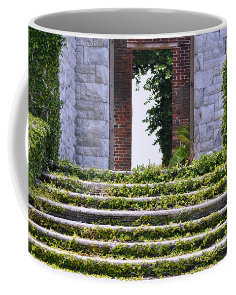 Cumberland Island Coffee Mug featuring the photograph Dungeness Front Steps by Debra White