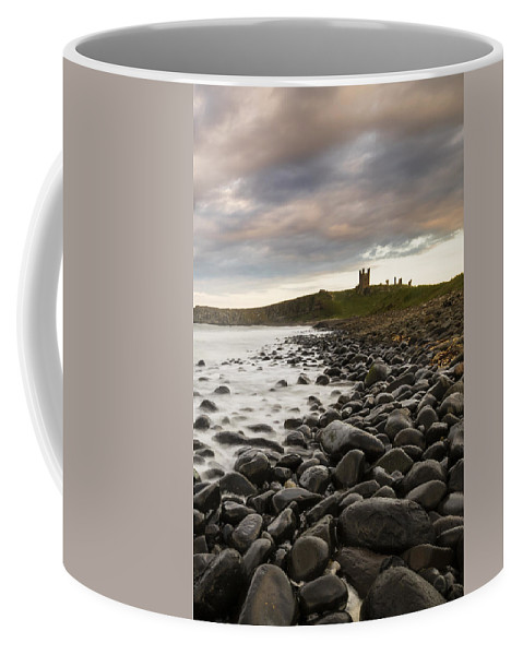 Coast Coffee Mug featuring the photograph Dunstanburgh Castle Uk by Chris Smith