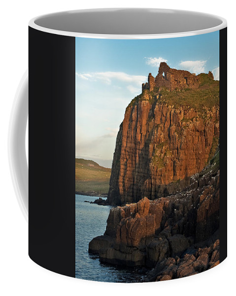 Scotland Coffee Mug featuring the photograph Duntulm Castle by Colette Panaioti