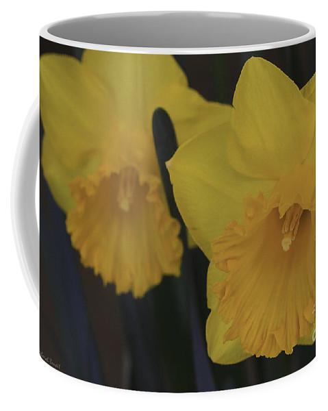 Daffodils Coffee Mug featuring the photograph Duo In Daffodils by Deborah Benoit