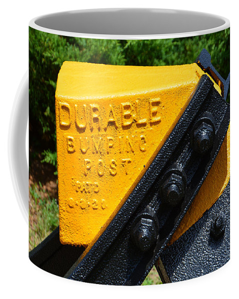 Post Coffee Mug featuring the photograph Durable Bumping Post by Mike Martin