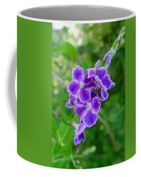Duranta Flower Coffee Mug featuring the painting Duranta Flower 2 by Jeelan Clark