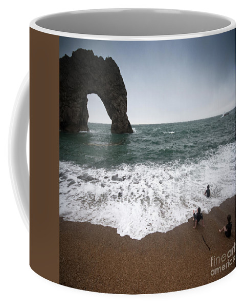 Durdle Door Coffee Mug featuring the photograph Durdle Door by Angel Ciesniarska