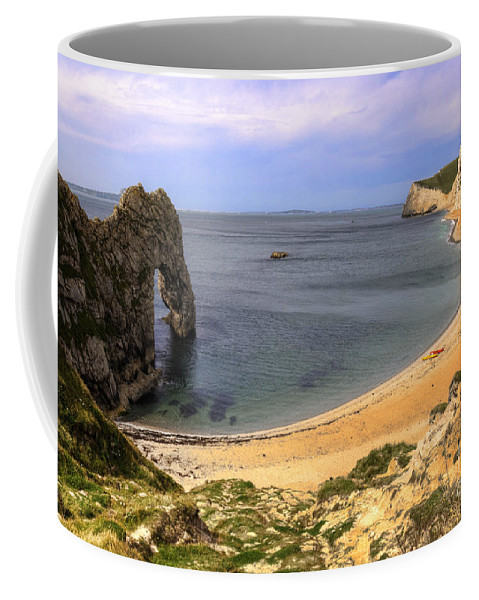 Durdle Coffee Mug featuring the photograph Durdle Door by Rob Hawkins