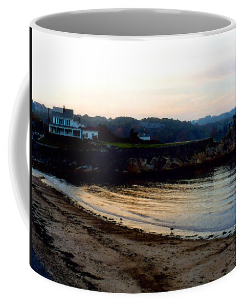 Seaside Coffee Mug featuring the painting Dusk At Rockport by Paul Sachtleben