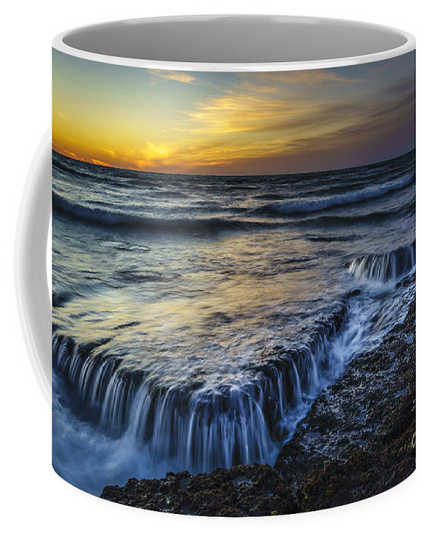 Andalucia Coffee Mug featuring the photograph Dusk At Torregorda Beach San Fernando Cadiz Spain by Pablo Avanzini