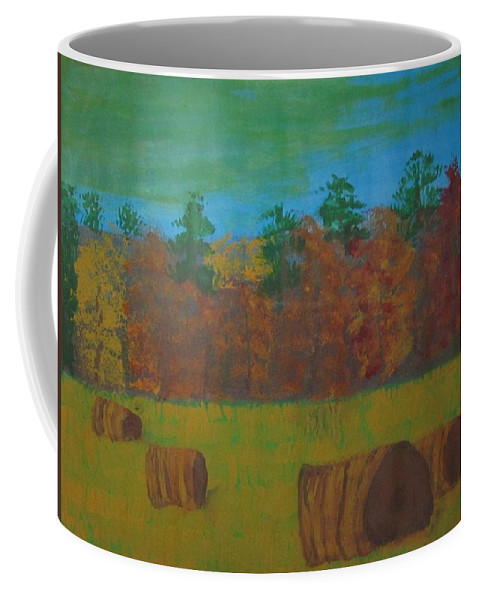 Dusk Coffee Mug featuring the painting Dusk In The County by Judy Pearce
