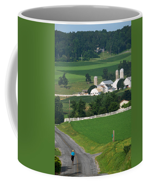 Lawrence Coffee Mug featuring the photograph Dutch Country Bike Ride by Lawrence Boothby